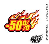 hot discount of 50   colored... | Shutterstock .eps vector #1434325415