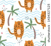 cute seamless pattern with... | Shutterstock .eps vector #1434327125