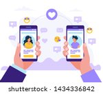 dating service app  man and... | Shutterstock .eps vector #1434336842