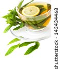 mint tea isolated on a white... | Shutterstock . vector #143434468