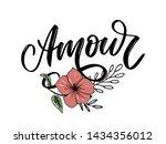 amour. vector handwritten... | Shutterstock .eps vector #1434356012
