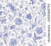 seamless vector floral pattern. ... | Shutterstock .eps vector #1434368792