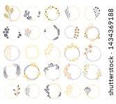 wreath set. vector floral... | Shutterstock .eps vector #1434369188