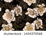 floral seamless pattern. garden ... | Shutterstock .eps vector #1434370568