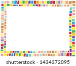 cute colorful horizontal border ... | Shutterstock .eps vector #1434372095
