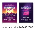 retrowave party  electronic... | Shutterstock .eps vector #1434382388