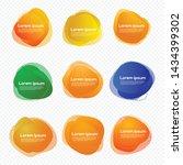 set of liquid shape label... | Shutterstock .eps vector #1434399302