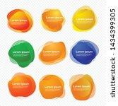 set of liquid shape label... | Shutterstock .eps vector #1434399305