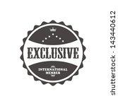 vintage label badge exclusive   Shutterstock .eps vector #143440612