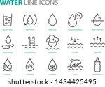 set of water icons  such as ... | Shutterstock .eps vector #1434425495