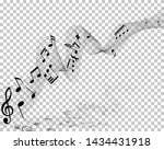 vector notes design with... | Shutterstock .eps vector #1434431918