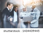 smiling group of diverse... | Shutterstock . vector #1434439445