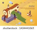 fashion design  tiny women... | Shutterstock .eps vector #1434441065