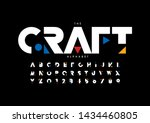 vector of stylized modern font... | Shutterstock .eps vector #1434460805
