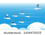 individual thinking and new... | Shutterstock . vector #1434470525