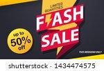flash sale banner template... | Shutterstock .eps vector #1434474575