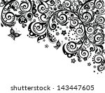 vintage border  black and white  | Shutterstock .eps vector #143447605