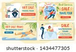 set coupons hot sale and final... | Shutterstock .eps vector #1434477305