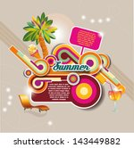 party background. summer poster | Shutterstock .eps vector #143449882