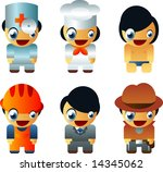 vector people by profession | Shutterstock .eps vector #14345062