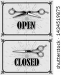 open and closed signs for... | Shutterstock .eps vector #1434519875