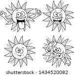 a cartoon funny summer sun set. ... | Shutterstock .eps vector #1434520082