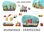 flat oil industry concept with... | Shutterstock .eps vector #1434522362
