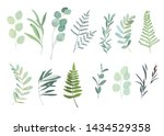 floral greenery set with... | Shutterstock .eps vector #1434529358