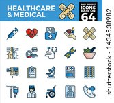 healthcare and medical pixel... | Shutterstock .eps vector #1434538982