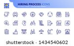 simple set of outline icons... | Shutterstock .eps vector #1434540602