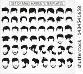 set of male haircuts and... | Shutterstock .eps vector #1434541658
