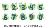 vector floral numbers with...   Shutterstock .eps vector #1434546602