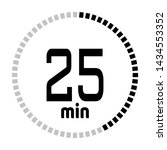the 25 minutes countdown timer...