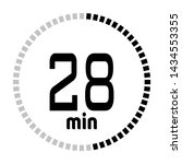 the 28 minutes countdown timer...