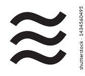 vector water wave line icon.    Shutterstock .eps vector #1434560495