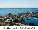 Floating Village At Tonle Sap...