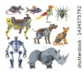 Robots Vector Cartoon Robotic...