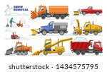 snow removal vector winter... | Shutterstock .eps vector #1434575795