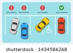 good and bad parking examples... | Shutterstock .eps vector #1434586268