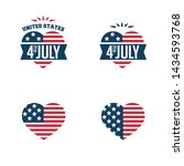 4th of july. united stated... | Shutterstock .eps vector #1434593768
