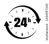 loop arrow icon symbol open 24 ... | Shutterstock .eps vector #1434597245