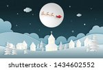merry christmas and happy new... | Shutterstock .eps vector #1434602552