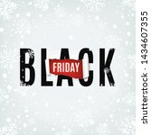 black friday abstract poster.... | Shutterstock .eps vector #1434607355