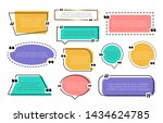 abstract texting boxes. speech... | Shutterstock .eps vector #1434624785