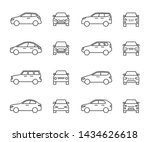 cars front and side view line... | Shutterstock . vector #1434626618