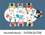managed team in office meeting... | Shutterstock . vector #1434626708