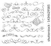 hand drawn flourish elements ... | Shutterstock . vector #1434629585