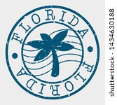 florida stamp. tree palm... | Shutterstock .eps vector #1434630188