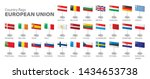flags of the european union.... | Shutterstock .eps vector #1434653738