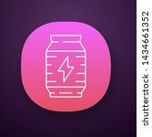 energy drink app icon. video...